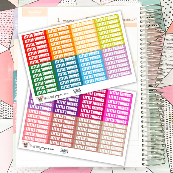 SS084 // 112 Little Things Label Stickers // Planner Stickers