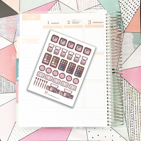 Makeup / Cosmetics Stickers 2 // Planner Stickers