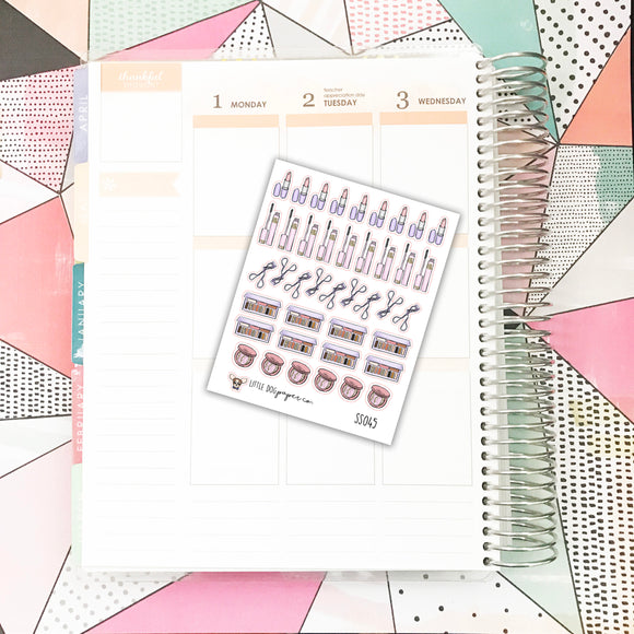 SS045 // Makeup / Cosmetics Stickers 1 // Planner Stickers