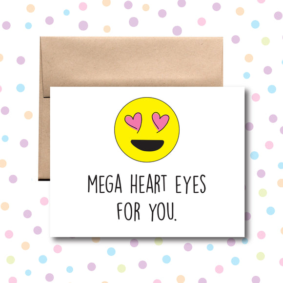 GC004 Mega Hearts Eyes for You Card