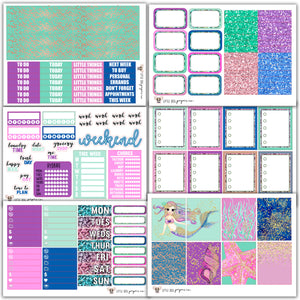 WK02 // Mermaid Dreams Weekly Kit // Planner Stickers