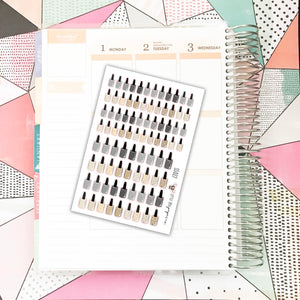 SS027 // Nail Polish Stickers // Neutrals // Planner Stickers