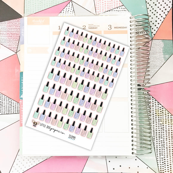 SS099 // Nail Polish Stickers // Pastels // Planner Stickers