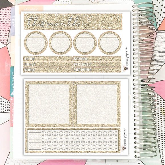 Notes Pages Kit // Sand Glitter