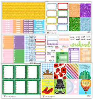 WK011 Yellow Brick Road Collection // Planner Stickers
