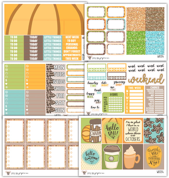 Pumpkin Spice Kit // Planner Stickers