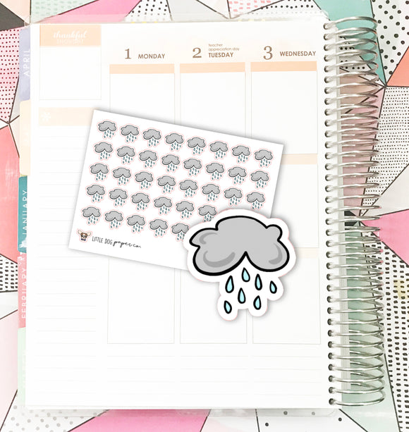 Rainy Weather // Planner Stickers
