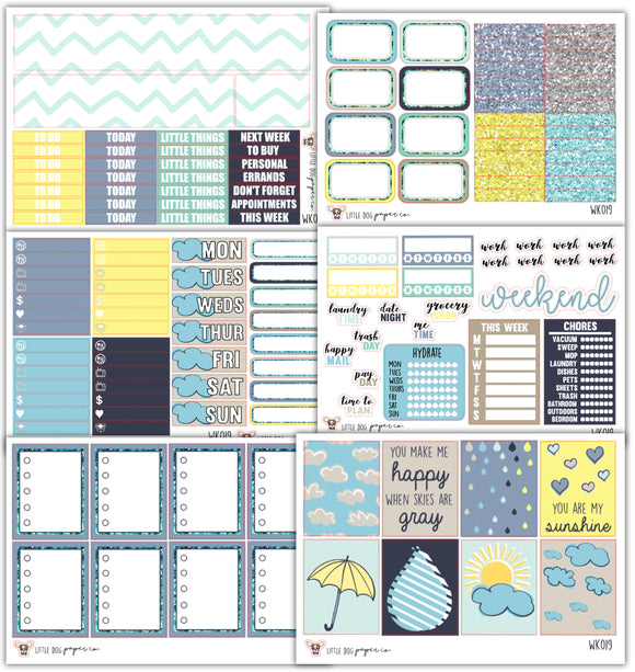 WK019 Rainy Day Collection // Planner Stickers