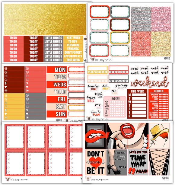 Time Warp Collection // Planner Stickers