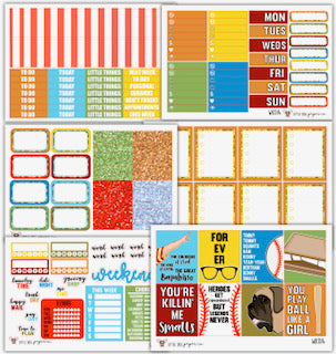 WK014 Legends Never Die Collection // Planner Stickers