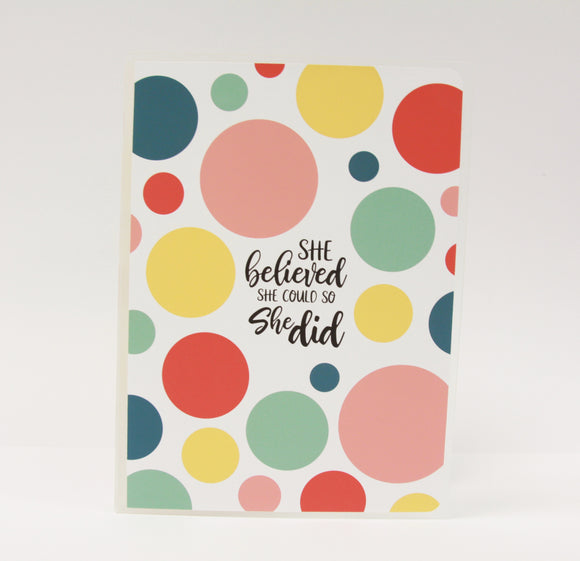 Sticker Album // She Believed She Could and So She Did