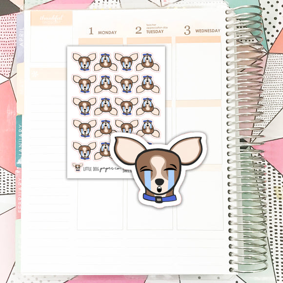 SHEL010 // Sheldon Crying Face // Planner Stickers