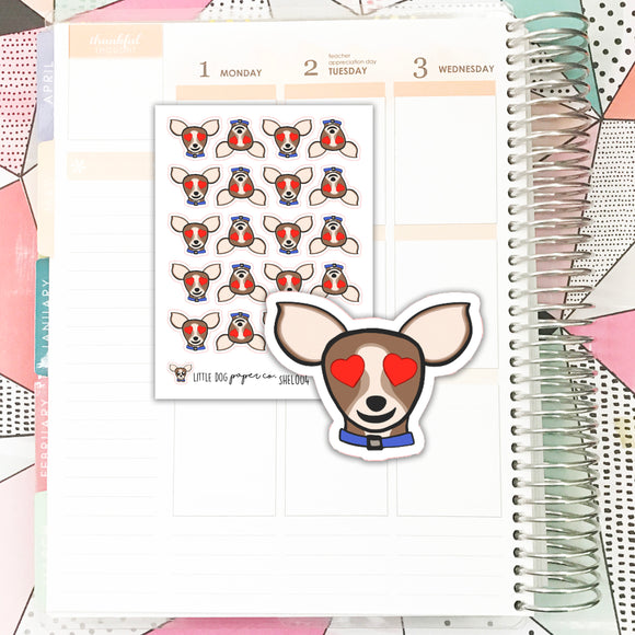 SHEL004 // Sheldon Heart Eyes // Planner Stickers