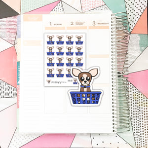 SHEL011 // Sheldon Does Laundry // Planner Stickers