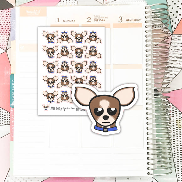 SHEL009 // Sheldon Mad Face // Planner Stickers