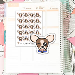 SHEL007 // Sheldon Silly Face // Planner Stickers