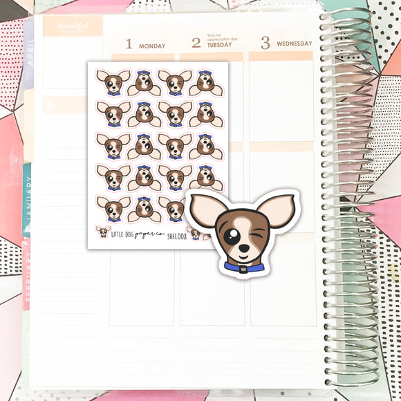 SHEL008 // Sheldon Wink Face // Planner Stickers