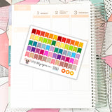 SS063 // 60 Small Page Flag Stickers // Planner Stickers