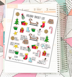 SS0111 // Holiday Bucket List // Planner Stickers
