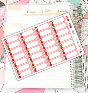 SS0113 // Sheldon Holiday Quarter Boxes // Planner Stickers