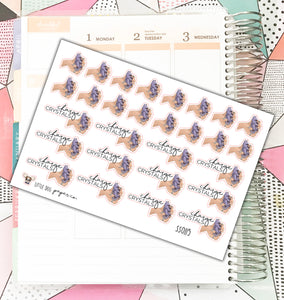 SS0115 // Charge Crystals // Planner Stickers