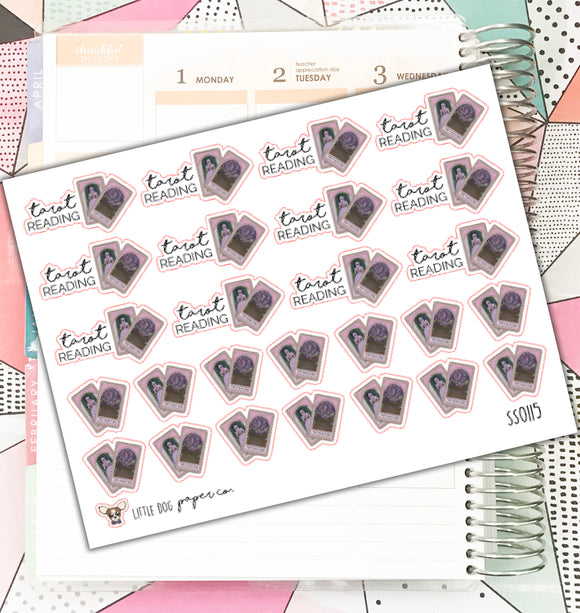 SS0116 // Tarot Reading // Planner Stickers