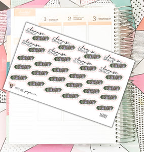 SS0117 // Cleanse Space Smudge Stick Sage // Planner Stickers