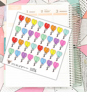 SS056 // Balloon Stickers // Planner Stickers