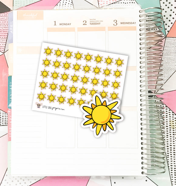 Sunny Weather // Planner Stickers