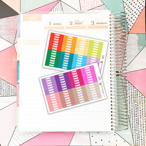 SS039 // 112 Today Label Stickers // Planner Stickers