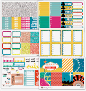 Take Me to Vegas Collection // Planner Stickers