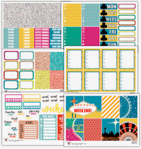 WK012 Take Me to Vegas Collection // Planner Stickers