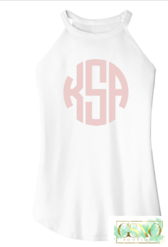 White Razr Monogram Tanks