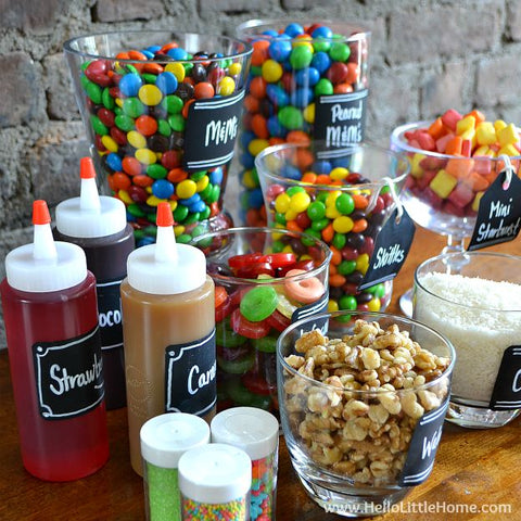 DIY Ice Cream Sundae Bar