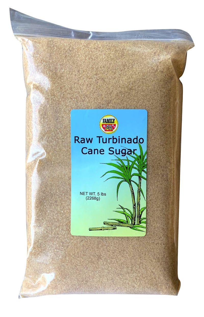 Premium Raw Gold Turbinado Cane Sugar 5 Pounds