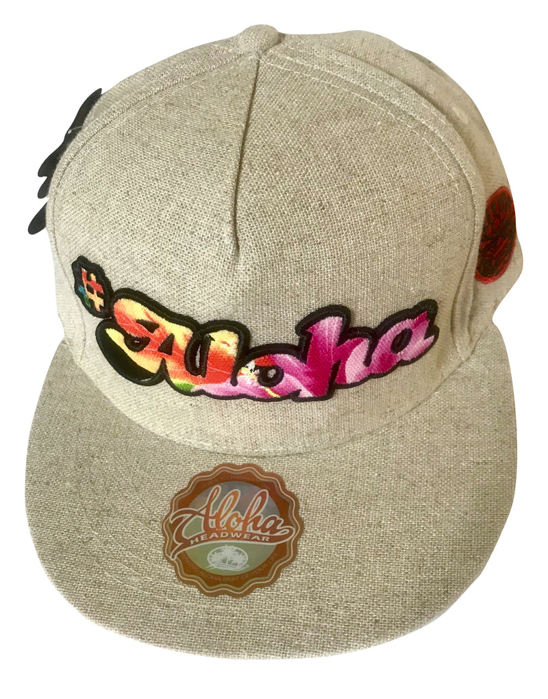 Aloha Headwear Flat Brimmed Hawaiian Designed Hat (Choose from Multiple Designs)