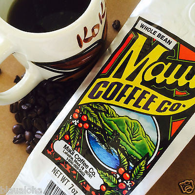 Maui Coffee Company 100% Hawaii Grown Coffee Whole Bean or Ground Hawaiian 7 oz