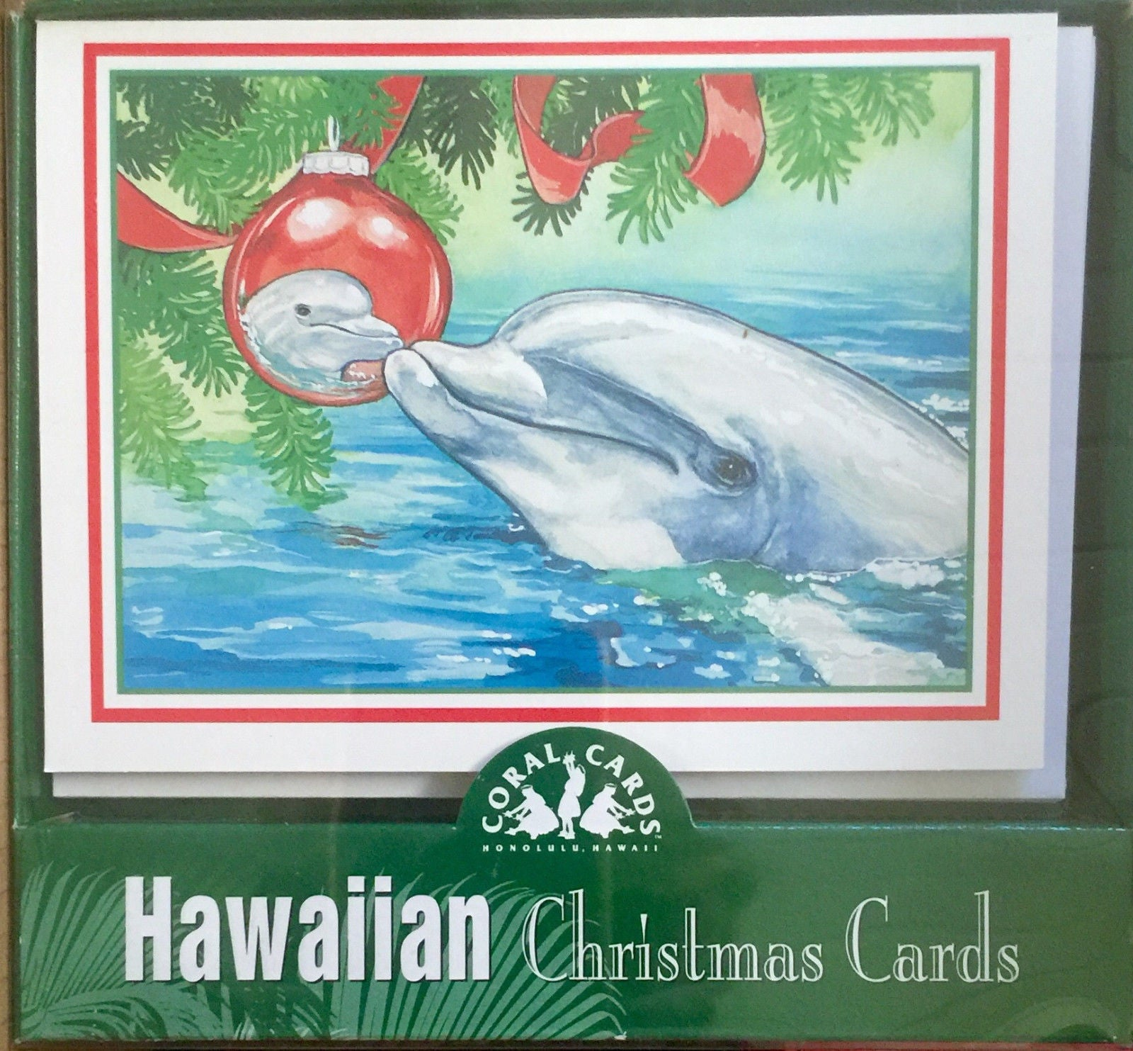 Hawaiian Dolphin Christmas Holiday Cards