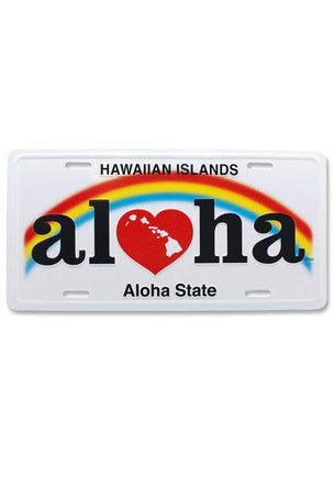Heart of Hawaii-Aloha License Plate