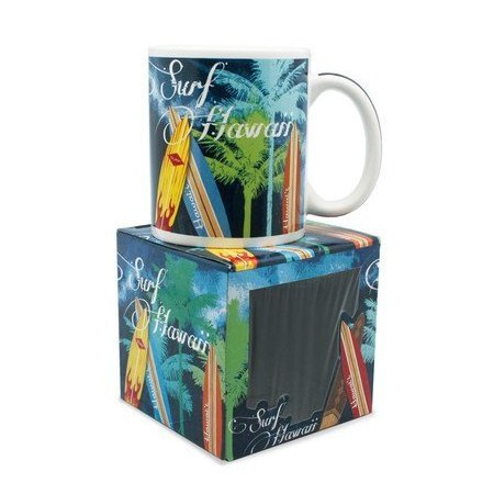 10 oz. Island Treasures Mug, Surf Hawaii