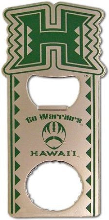 Hawaii University Magnet Bottle Opener with Twist Off Go Warriors