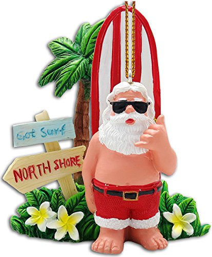 "Got Surf Santa Ornament 2.25"" X 3"""