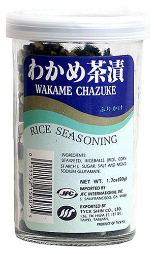 JFC Wakame Chazuke Rice Seasoning, 1.7-Ounce Bottle (Pack of 4)