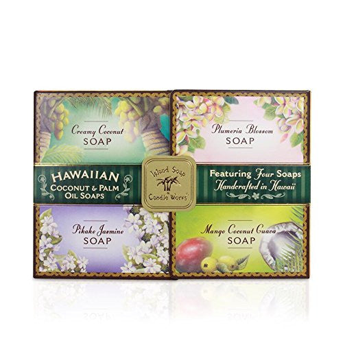 Island Soap & Candle Botanical Soap Sample Pack - Four 2 oz. Bars