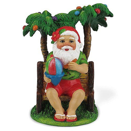 Island Heritage Shave Ice Santa Hawaiian Christmas Ornament
