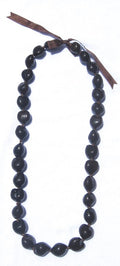Hawaiian Lei Necklace of Dark Brown Kukui Nuts