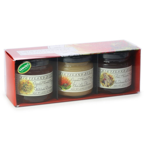 Big Island Bees Organic Hawaiian Honey Gifting 3 Pack