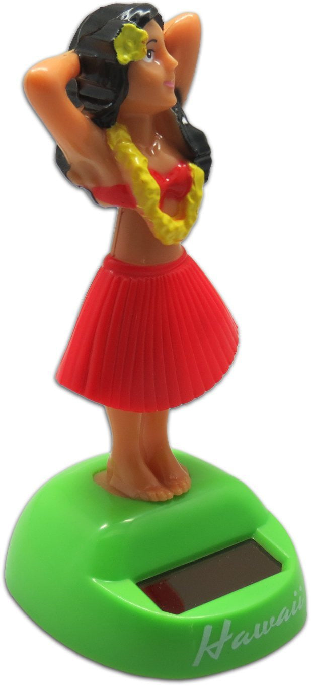 Solar Hawaiian Hula Posing Dashboard Doll