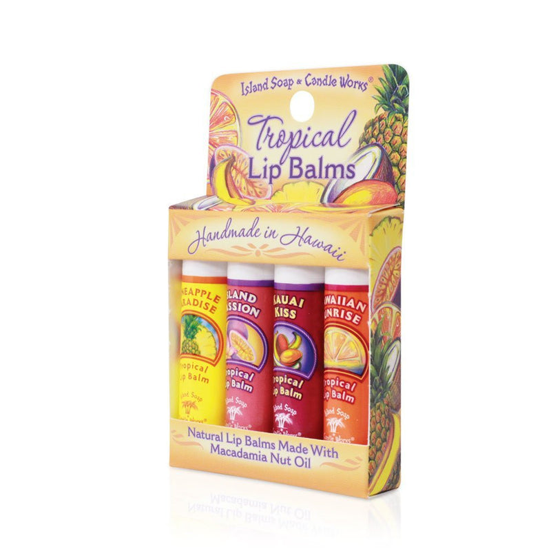 Tropical Lip Balm Sticks - Convenient 4 - Pack