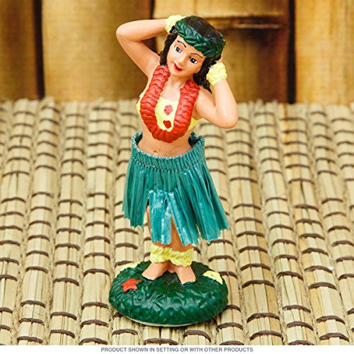Hawaiian Hula Girl Posing Miniature Dashboard Doll